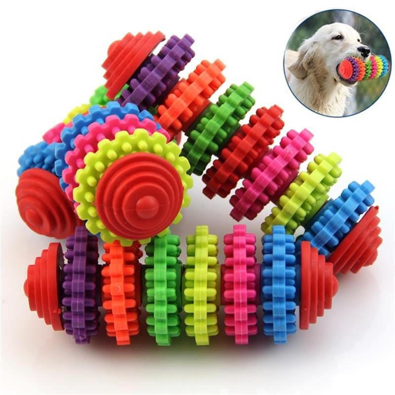 Colorful teething bite chew toy