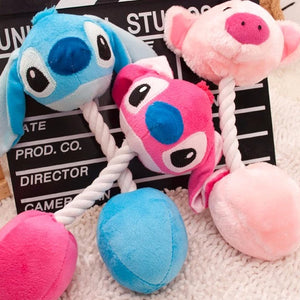Cartoon plush toys Stitch & Piglet