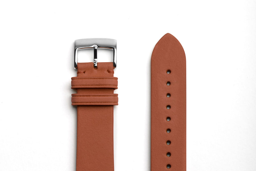 brown genuine leather bracelet for watch