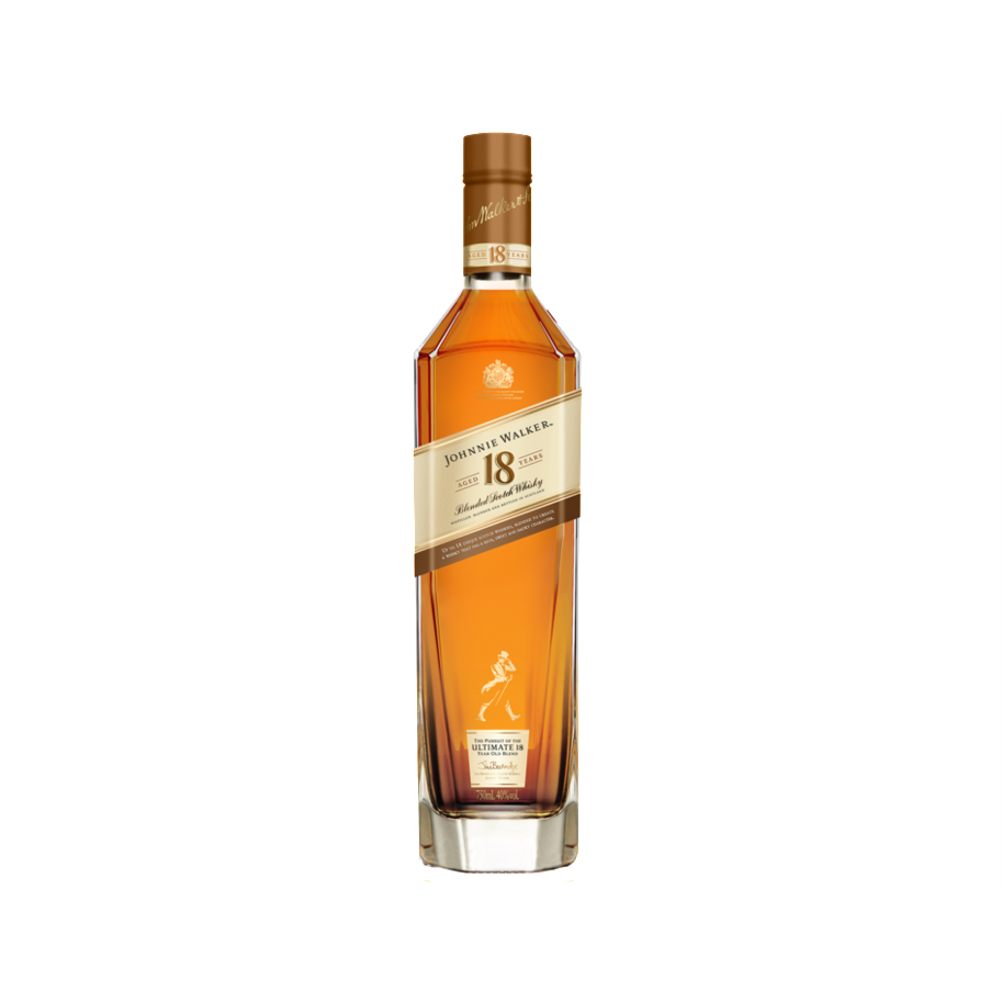Johnnie Walker 18 Year Old Blended Scotch Whisky (75cl) - liquormalaysia