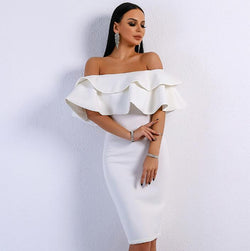 Women Sexy Off Shoulder Backless Dress
