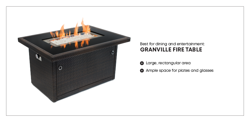 best fire table for dining
