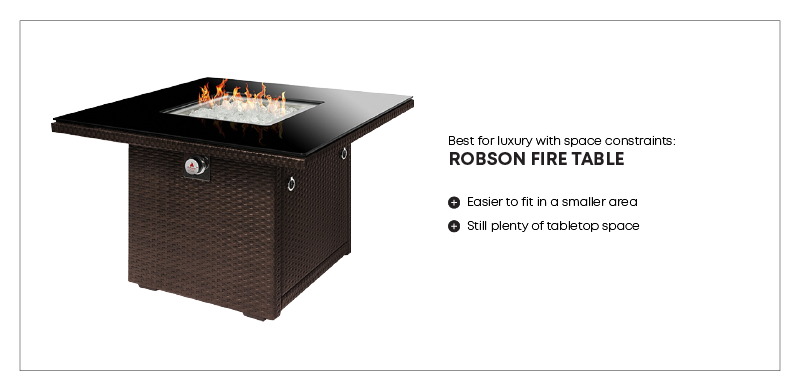 best fire table for small space