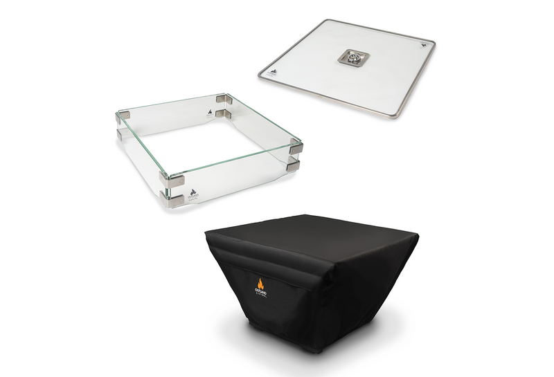 Outland Fire Table 3 Piece Square Accessory Set 410