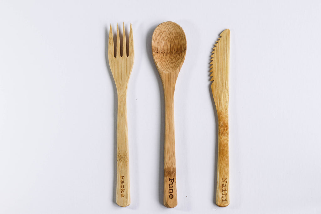 15pc Bamboo Cutlery Set