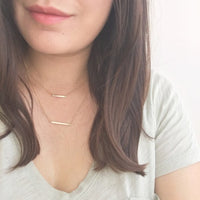 Gold Layered Bar Necklace