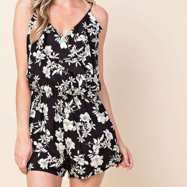 Black and Ivory Romper