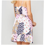 Pink and Navy Sundress