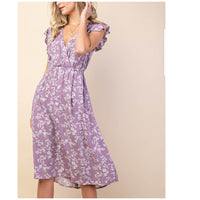 Lilac Button Down Dress
