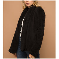 Black Sherpa Jacket with Pockets