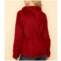 Burgundy Fleece Pullover