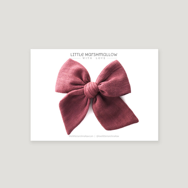 Large Pinwheel Bow // Antique Mauve