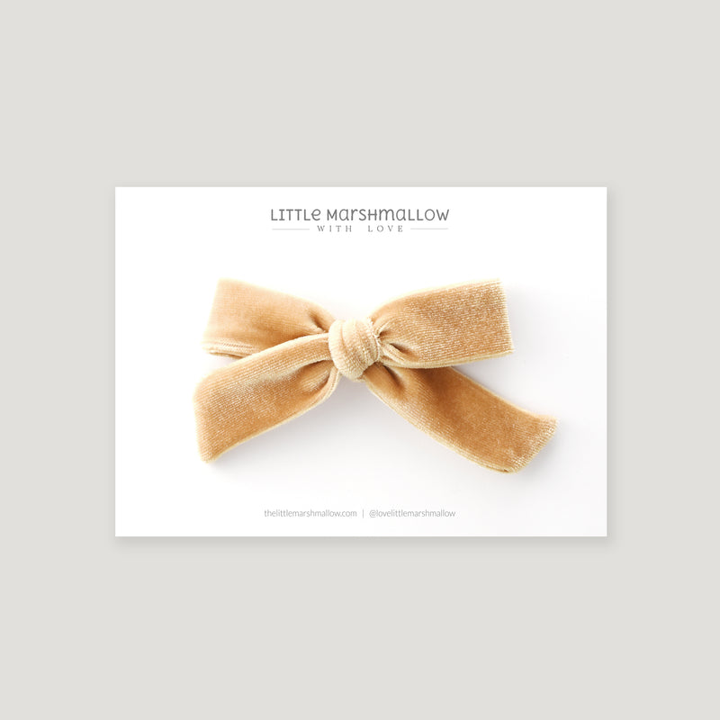 Medium Schoolgirl Bow // Butterscotch Velvet