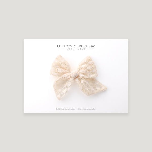 Mini Pinwheel Bow // Champagne Bubbles