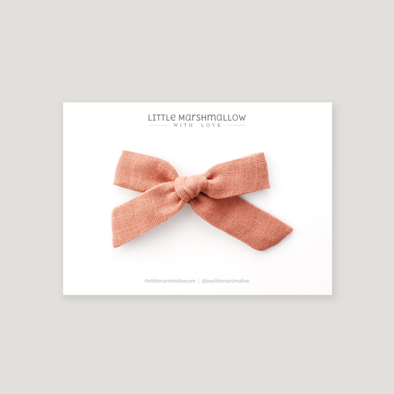 Medium Schoolgirl Bow // Coral Rose