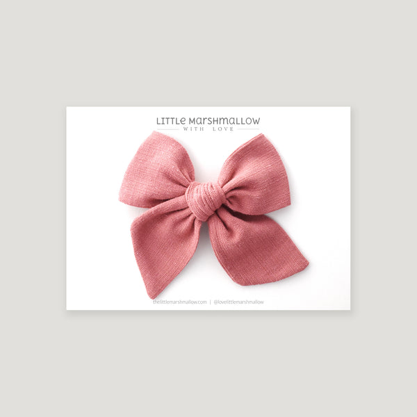 Large Pinwheel Bow // Dusky Rose