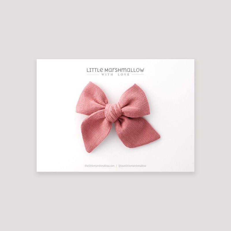 Mini Pinwheel Bow // Dusky Rose