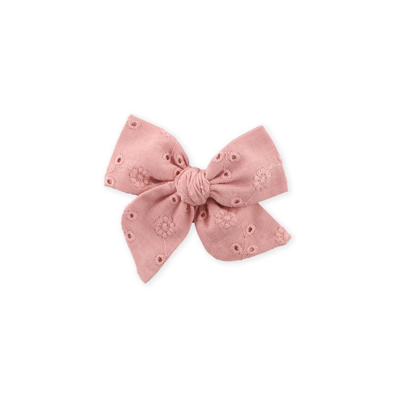 Mini Pinwheel Bow // Dusty Pink Floral