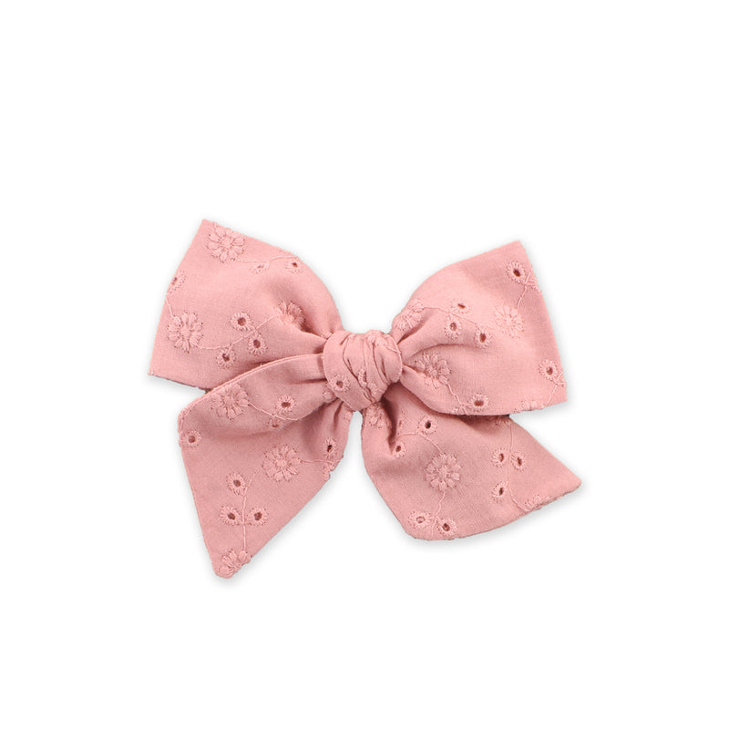 Large Pinwheel Bow // Dusty Pink Floral
