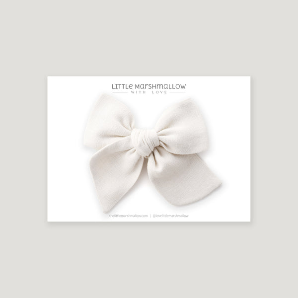Large Pinwheel Bow // Egg Shell