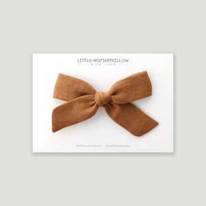 Large Schoolgirl Bow // Gingerbread