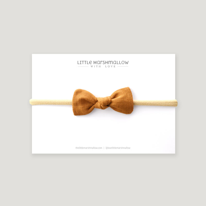 Petite Knot Bow // Golden Honey