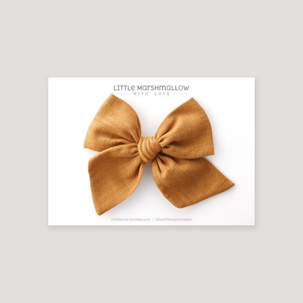 Large Pinwheel Bow // Golden Honey