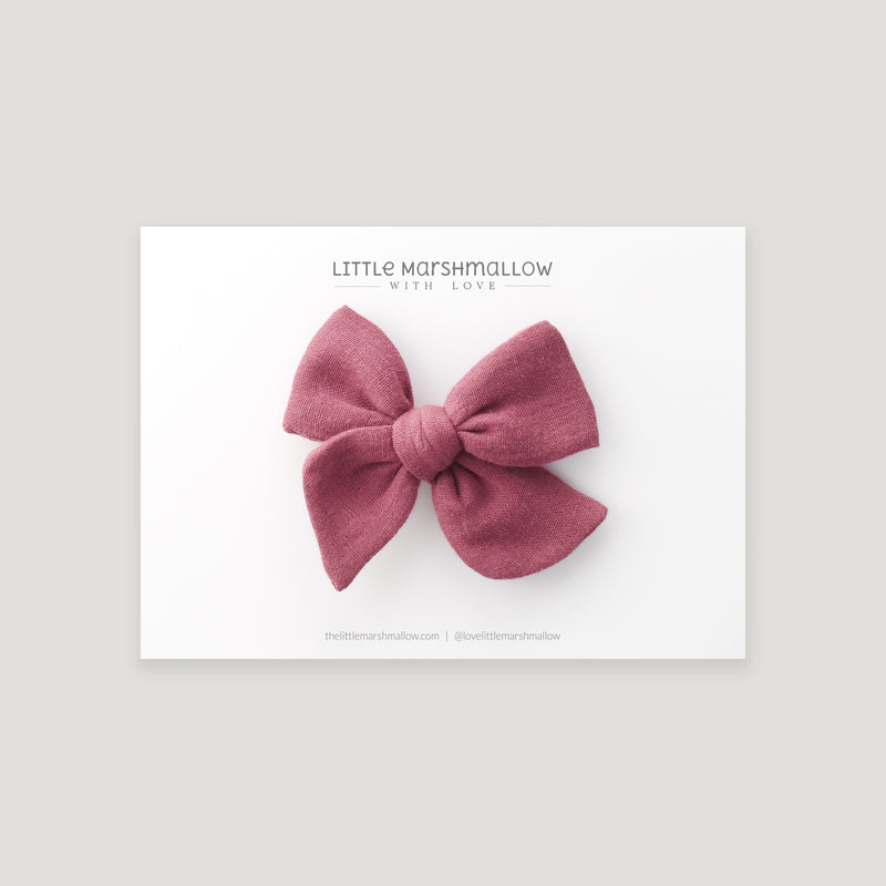 Mini Pinwheel Bow // Grape