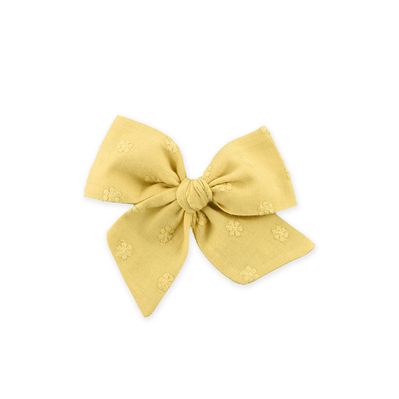 Large Pinwheel Bow // Little Daisies - Mustard