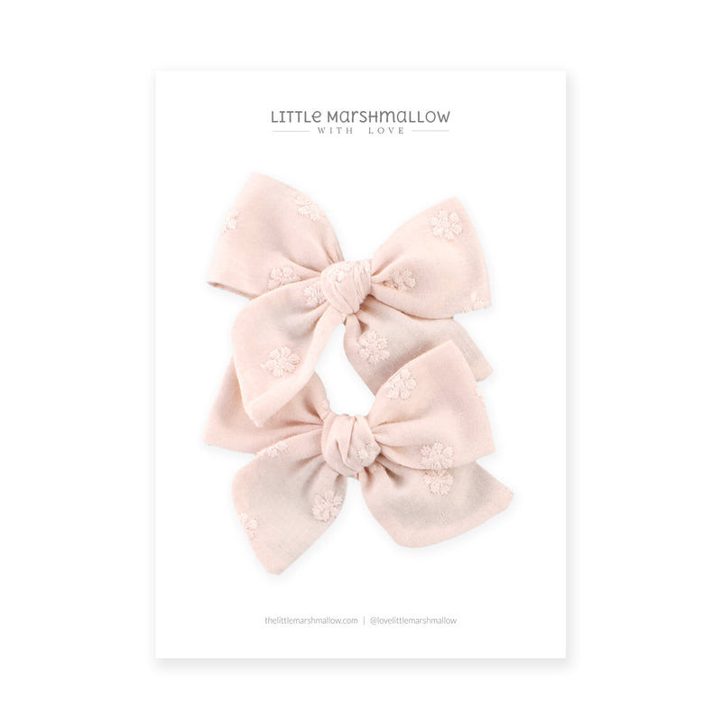 Pigtail Set // Little Daisies - Pink
