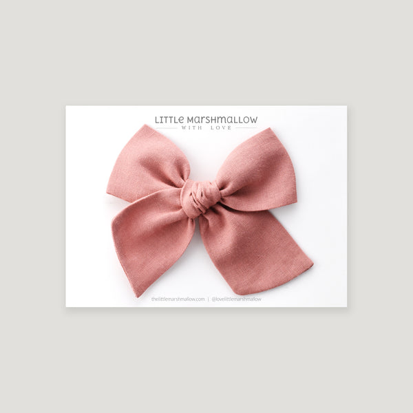 Large Pinwheel Bow // French Rose