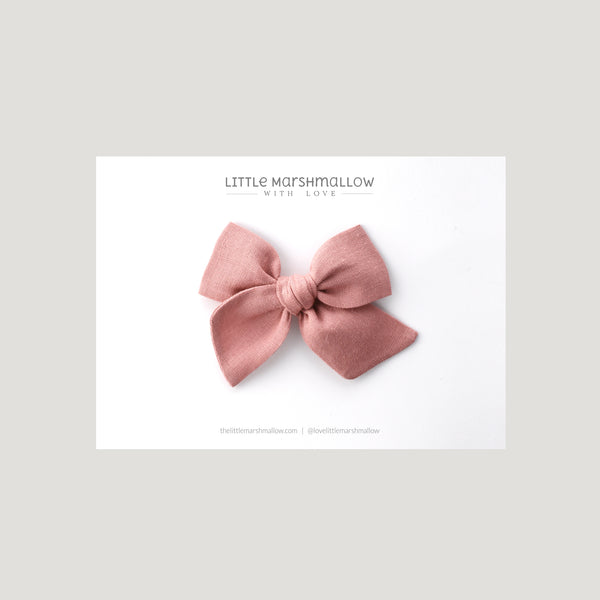 Mini Pinwheel Bow // French Rose