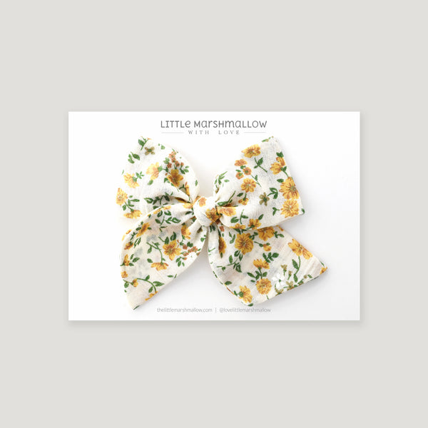 Large Pinwheel Bow // Mustard Bloom