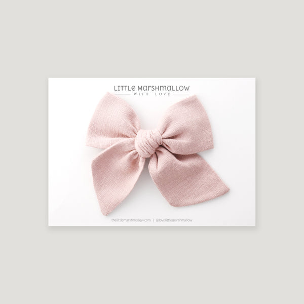 Large Pinwheel Bow // Powder