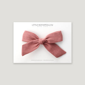 Large Schoolgirl Bow // Rose Clay