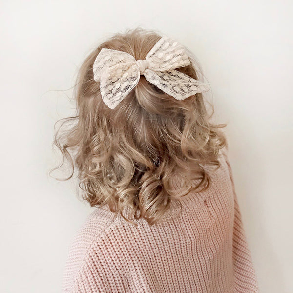 Large Pinwheel Bow // Champagne Bubbles
