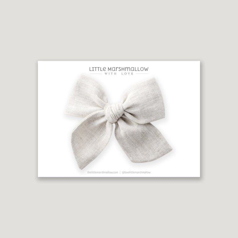 Large Pinwheel Bow // Silver Mist