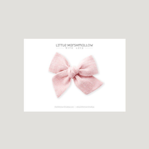 Mini Pinwheel Bow // Strawberry Cream
