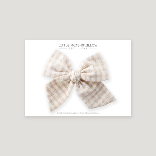 Large Pinwheel Bow // Washed Gingham