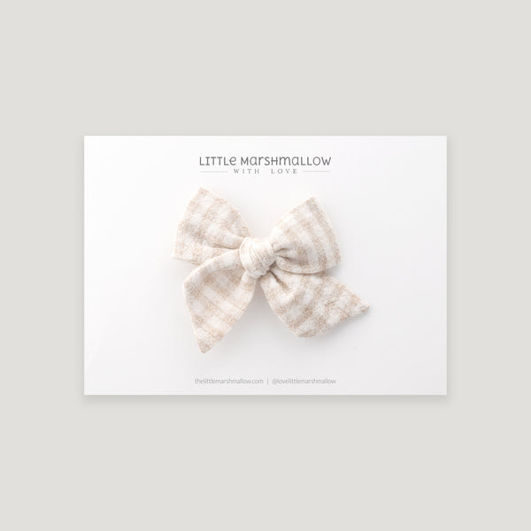 Mini Pinwheel Bow // Washed Gingham