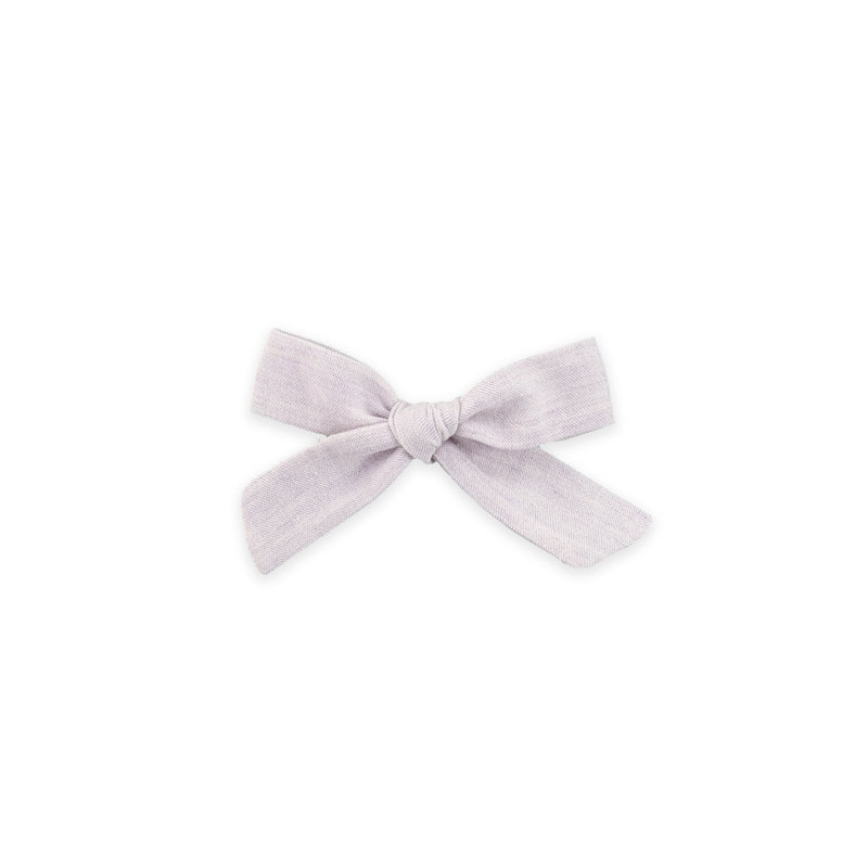 Mini Schoolgirl Bow // Washed Lilac