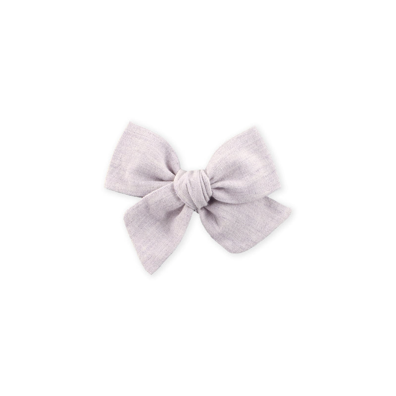Mini Pinwheel Bow // Washed Lilac