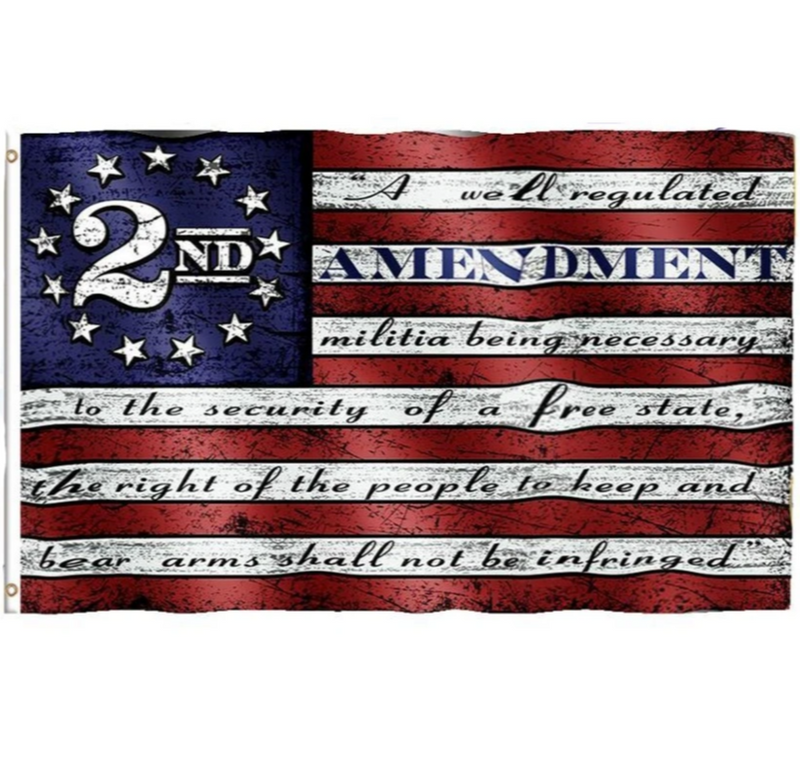 Defend 2nd Amendment Vintage HIGH QUALITY American 3x5 ft Signage