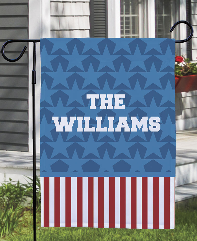 Personalized Patriotic Doormat or Garden Flag