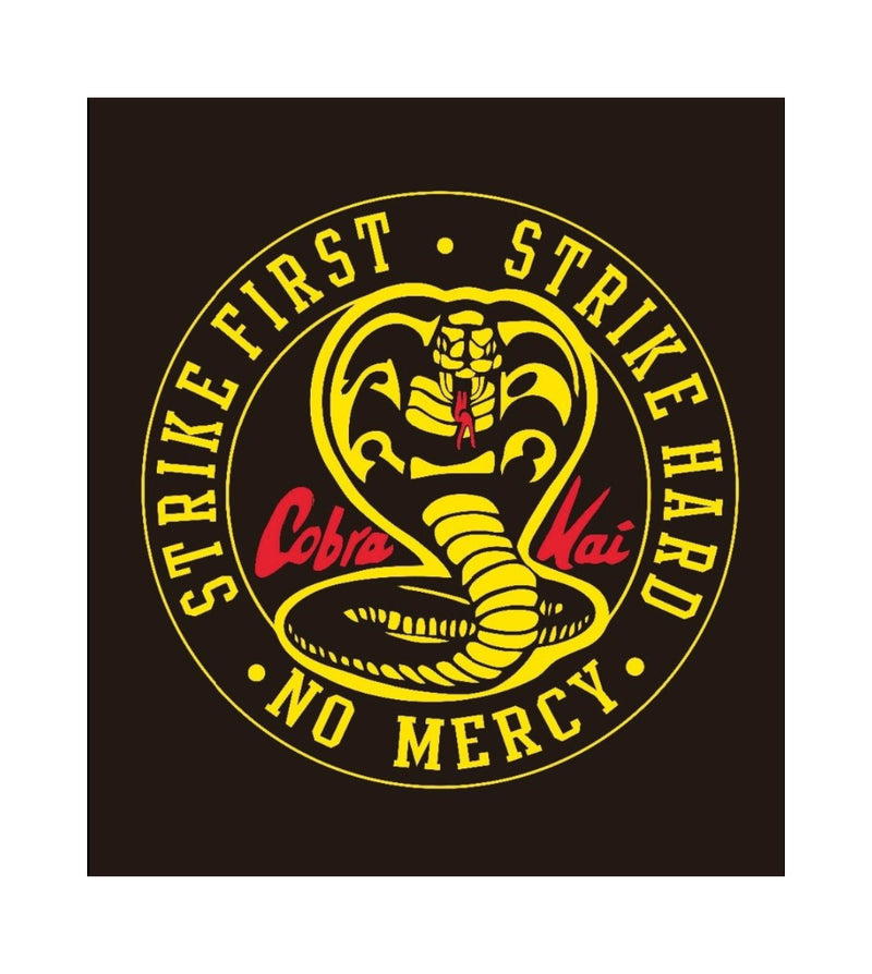 Cobra Kai Strike First Karate Kid Flag