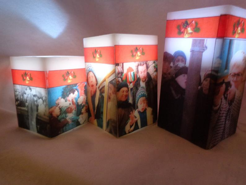 Christmas Movie Classics  Home Alone, A Christmas Story, It's A Wonderful Life 3pc Flameless Wax Cube Candle Set Multicolor Holiday Candle