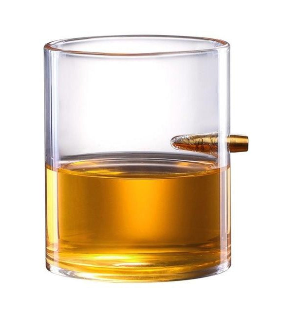 Creative Penetrating Bullet Crystal Whiskey Glass