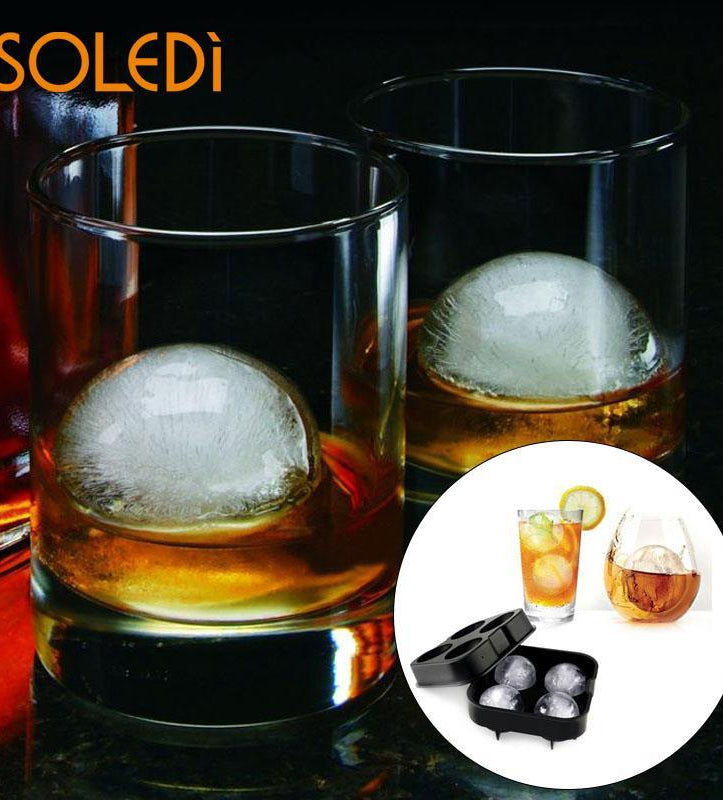 Silicon Ice Cube Ball Mold for Cocktails and Whiskey