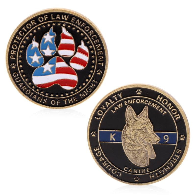 Police Dog Guardians Law Enforcement Coin