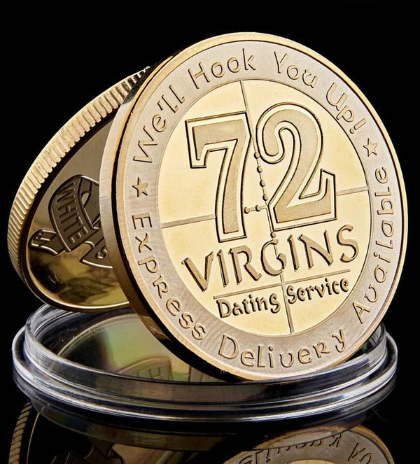 U.S. Marine Corps 72 Virgins Dating Service Challenge Coin